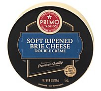 Primo Taglio Cheese Soft Ripened Brie Double Cream - 8 Oz