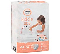 Signature Care Kiddie Ups Training Pants Girl Refastenable 4T-5T - 19 Count