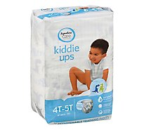 Signature Care Kiddie Ups Training Pants Boy Refastenable 4T-5T - 19 Count