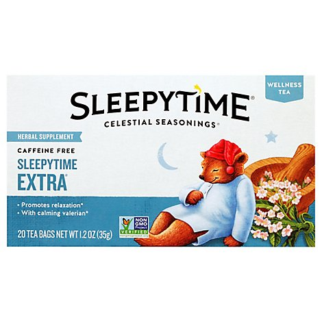 Celestial Seasonings Sleepytime Herbal Tea Bags Caffeine Free Extra 20 Count - 1.2 Oz