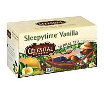 Celestial Seasonings Sleepytime Herbal Tea Bags Caffeine Free Vanilla 20 Count - 1 Oz