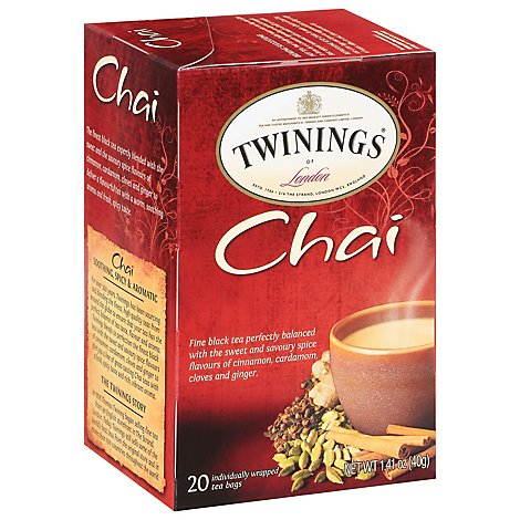 Twinings of London Black Tea Chai - 20 Count