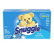 Snuggle Fabric Softener Sheets Blue Sparkle Box - 80 Count