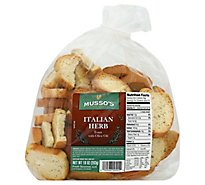 Mussos Toast Italian Herb Oven Baked With Olive Oil - 18 Oz