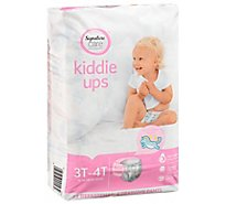 Signature Care Kiddie Ups Training Pants Girl 3T-4T - 23 Count