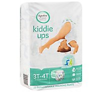 Signature Care Kiddie Ups Training Pants 3T-4T Dinosaur Prints - 23 Count