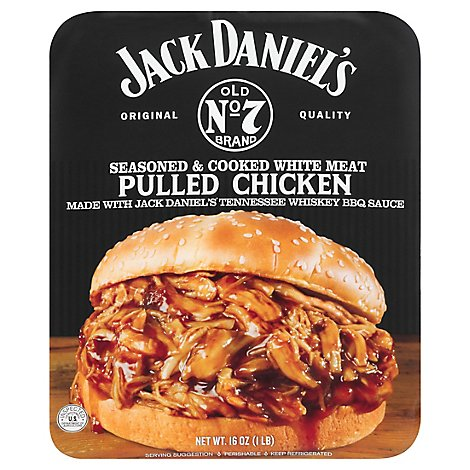 Jack Daniels Pulled Chicken Seasoned & Cooked White Meat - 16 Oz