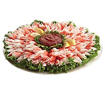 Seafood Counter Party Tray Neptunes Crab Classic Medium With Surimi Alaskan Snow Crab Legs
