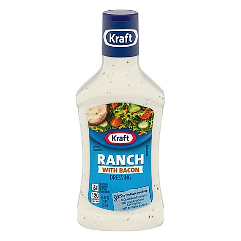 Kraft Dressing Smoky & Creamy Ranch With Bacon - 16 Fl. Oz.