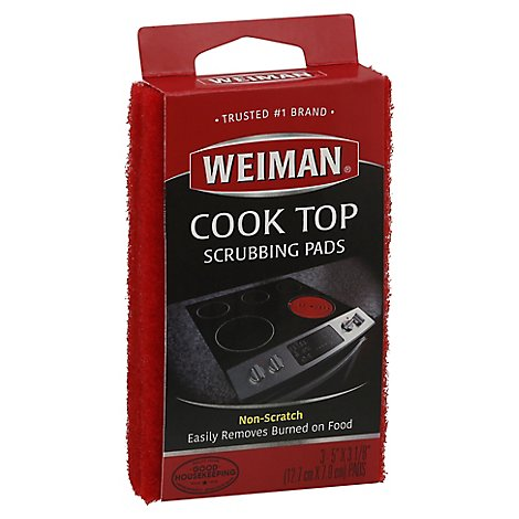 Weiman Cook Top Scrubbing Pad - 3 Count