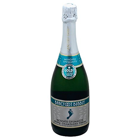 Barefoot Bubbly Moscato Spumante Champagne Sparkling Wine - 750 Ml