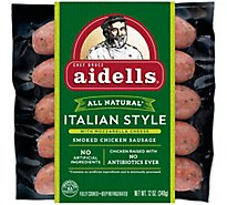 Aidells Smoked Chicken Sausage Italian Style with Mozzarella Cheese - 12 Oz