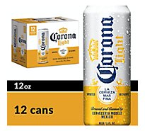Corona Light Mexican Import Beer Cans 4.1% ABV - 12-12 Fl. Oz.