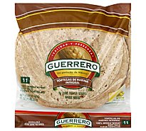 Guerrero Tortillas Flour Soft Taco Whole Wheat De Harina Integral Bag 11 Count - 16 Oz