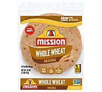 Mission Tortillas Flour Whole Wheat Soft Taco Bag 10 Count - 16 Oz