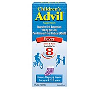 Childrens Advil Suspension Grape-Flavor Ibuprofen Fever Reducer/Pain Reliever- 4 Fl. Oz.
