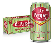 Dr Pepper Made with Sugar 12 fl oz cans 12 pack