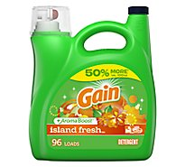 Gain Plus Aroma Boost Laundry Detergent Liquid Island Fresh - 150 Fl. Oz.