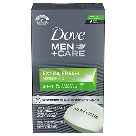 Dove Men+Care Body + Face Bar Extra Fresh - 6-4 Oz