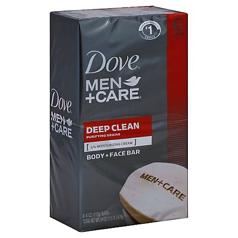 Dove Men+Care Body + Face Bar Deep Clean - 6-4 Oz