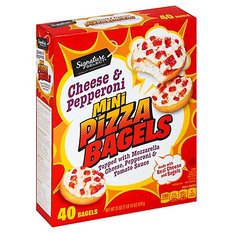 Signature SELECT Pizza Bagels Mini Cheese & Pepperoni - 31.1 Oz