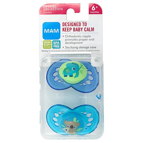MAM Pacifier Crystal 6 Months Plus - 2 Count