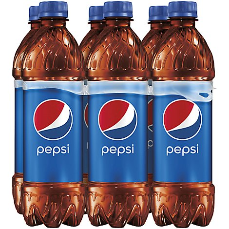 Pepsi Soda Cola - 6-16.9 Fl. Oz.