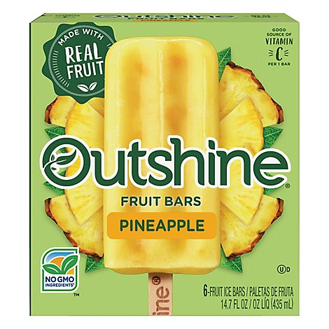 Outshine Fruit Ice Bars Pineapple 6 Counts - 14.7 Fl. Oz.