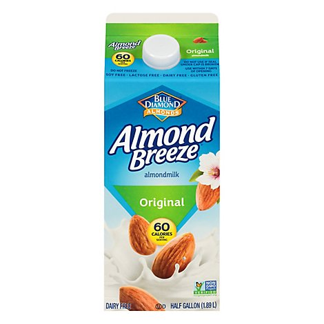 Blue Diamond Almonds Almond Breeze Milk Original - 64 Fl. Oz.