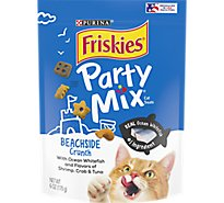 Friskies Cat Treats Party Mix Ocean Whitefish & Flavors Of Shrimp Crab & Tuna - 6 Oz