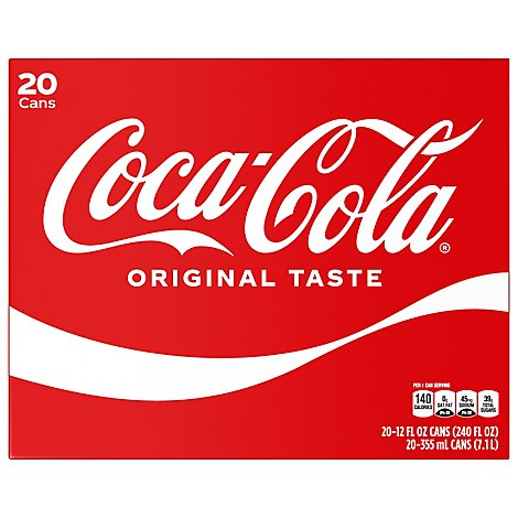 Coca-Cola Soda Pop Classic - 20-12 Fl. Oz.