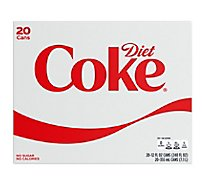 Diet Coke Soda Cans - 20-12 Fl. Oz.
