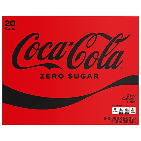 Coca-Cola Soda Zero Sugar Cans - 20-12 Fl. Oz.