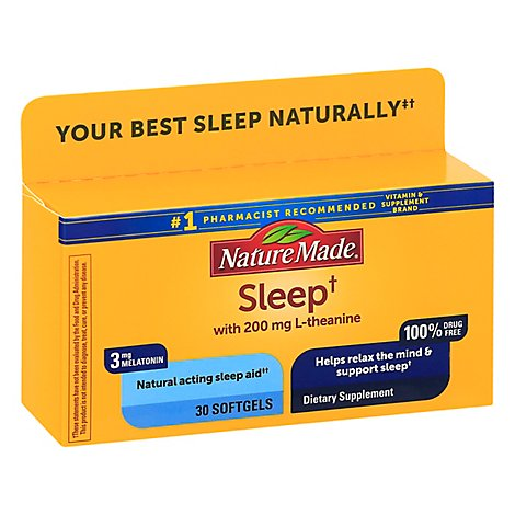 Nature Made Natural Sleep Aid - 30 Count