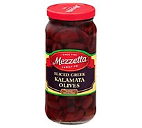 Mezzetta Olives Greek Sliced Kalamata - 9.5 Oz