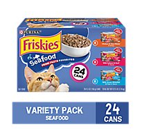 Friskies Cat Food Prime Filets Seafood Favorites Box - 24-5.5 Oz