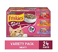 Friskies Cat Food Prime Filets Meaty Favorites Box - 24-5.5 Oz