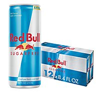 Red Bull Energy Drink Sugar Free - 12-8.4 Fl. Oz.