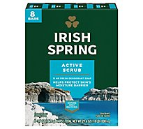 Irish Spring Deodorant Soap Bars Deep Action Scrub - 8-3.75 Oz