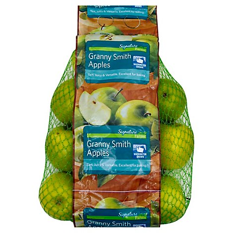 Signature Farms Granny Smith Apples Prepacked Bag - 3 Lb