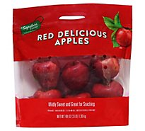 Signature Farms Red Delicious Apples Prepacked Bag - 3 Lb