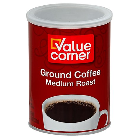 Value Corner Coffee Ground Medium Roast - 11.5 Oz