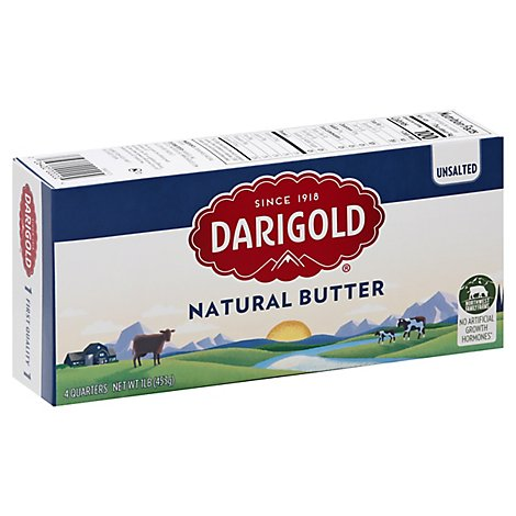 Darigold Butter Natural Unsalted 4 Quarters - 16 Oz