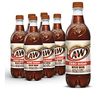 A&W Soda Zero Sugar Root Beer - 6-16.9 Fl. Oz.