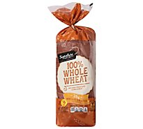 Signature SELECT Bread 100% Whole Wheat - 16 Oz