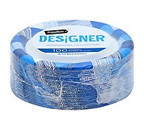 Signature SELECT Plates Paper Designer Coated 8.75 Inch Blue - 100 Count