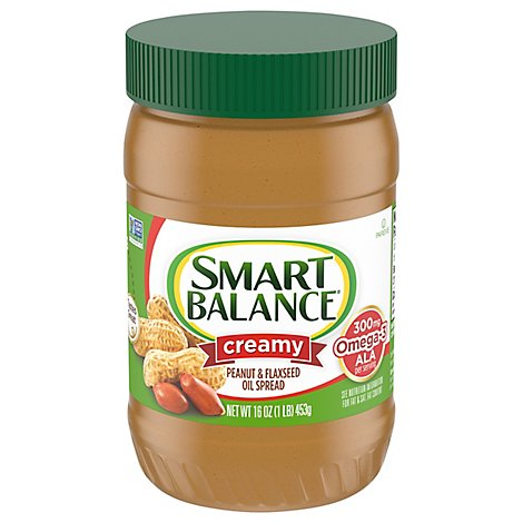 Smart Balance Peanut Butter Spread Creamy Natural Rich Roast - 16 Oz