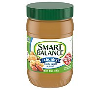 Smart Balance Peanut Butter Spread Chunky Natural Rich Roast - 16 Oz