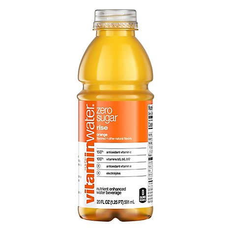 vitaminwater Zero Water Beverage Nutrient Enhanced Rise Orange - 20 Fl. Oz.
