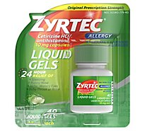 Zyrtec Allergy Adult Liquid Gels - 40 Count